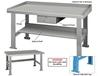 "STEEL TOP INDUSTRIAL WORK BENCHES - 34"" HIGH"