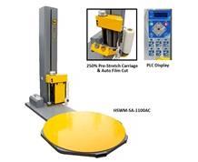 HEAVY USE LOW-PROFILE SEMI-AUTOMATIC STRETCH WRAP MACHINE